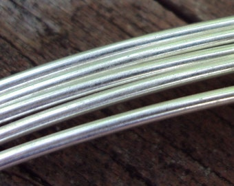 Argentium sterling silver jewelry making wire, Round, dead soft wire, By The Foot, any gauge, you choose
