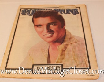Vintage Rolling Stone Magazine Sept. 22nd 1977 Issue 248 Elvis Presley Memorial Issue