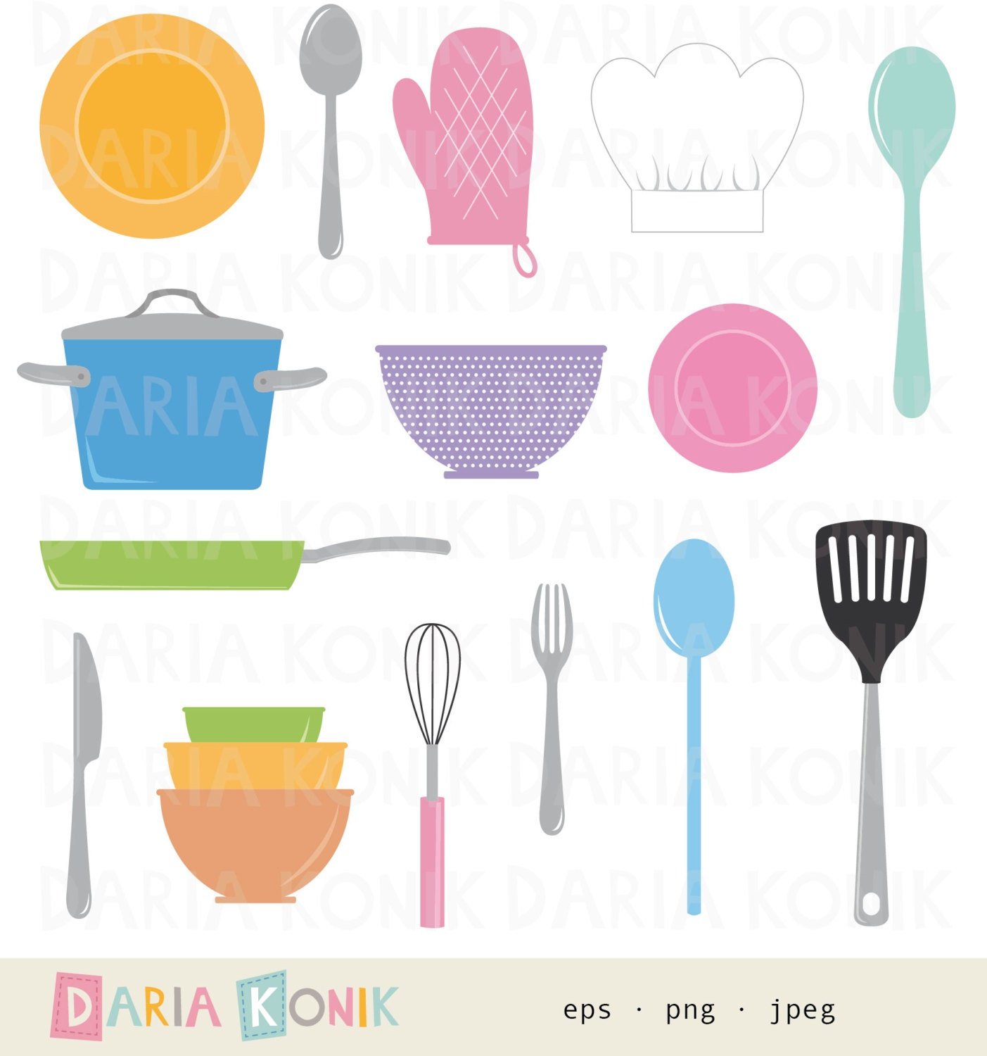 Cooking Clip Art Set kitchen clipart cooking utensils