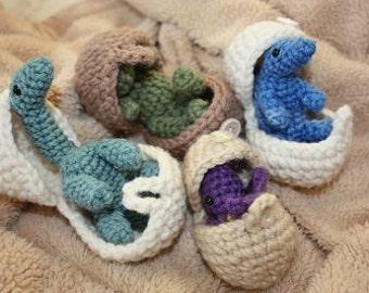 CROCHET PATTERN: Hatching Dinosaur Eggs