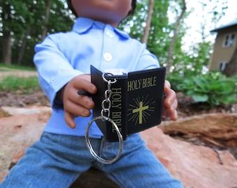 Mini Bible keychain for American Girl or Boy Dolls