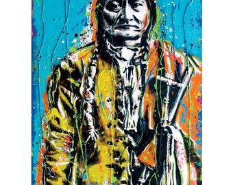 Sitting Bull - 12 x 18 High Quality Art Print