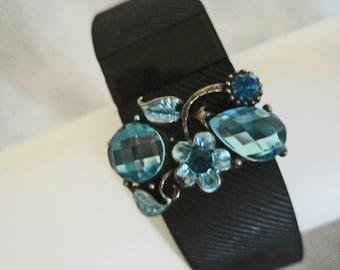 Fitbit Bling Aqua BlueTeardrop Diamond Fitbit Band Fitness BraceletSALE THIS WEEK