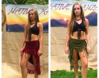 SALE,LACE PIXIE Skirt - Festival Skirt, Lace , Psytrance Skirt, Gypsy Skirt, , Psy Clothing, Tribal Skirt,