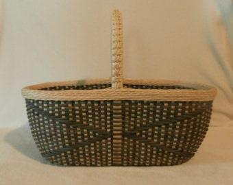 Basket Weaving Kit: Colorful French Shopping Basket