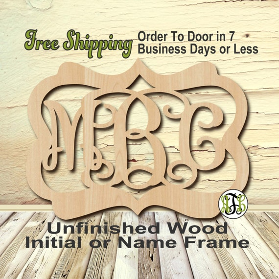 Unfinished Wood Chris Frame Monogram, Name, Word, Custom, laser cut wood, wooden cut out, Nursery, Personalized, DIY
