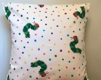 THE HUNGRY CATERPILLAR  Cotton Cushion Cover 40cm