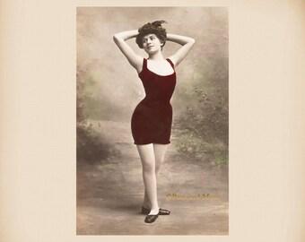 Edwardian Bathing Beauty New 4x6 Vintage Postcard Image Photo Print BB23