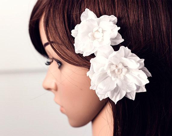 Weiße Blumen Haare Haarspange Blume Braut Haar Blume Blumen