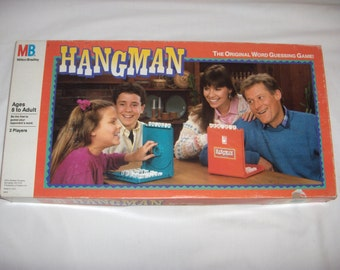HANGMAN 1988 Fun for Two Players Milton Bradley