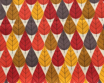 Charley Harper Canvas Octoberama red 1/2 yard or more