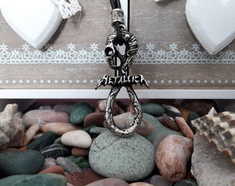 Metalica music band pendant leather necklace,metalica Heavy metal-thrash metal band,metalica snake symbol,charm gift