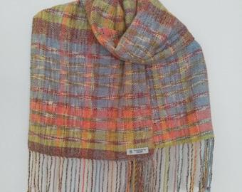 Handmade handwoven scarf shawl wrap