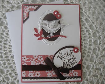 Handmade Greeting Card: World's Best Mother/Mother's Day