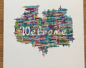 Embroidered Welcome Sign