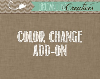 Custom Color Change {Add On to an Invitation Already Purchased}