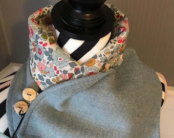 Harris Tweed and Tana Lawn Cotton Cowl