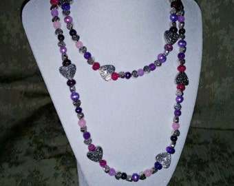 Purple & Pink Sweetheart Delight Necklace