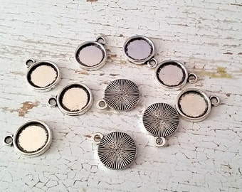 10 Round Cabochon Settings | Fits 10 mm Cabochons | Tray Setting