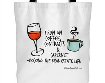 """Funny Realtor Real Estate Agent Quote Tote 