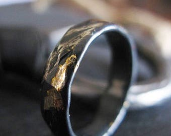Mens Wedding Band Size 7 3/4 Distressed Unique Mens Wedding Band Rustic Mens Ring Mens Wedding Rings Viking Wedding Ring Hammered Silver Wed