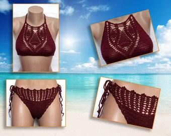Fabric crochet bikini - women swimwear - Beach Wear  Summer Trends , LoveKnittings