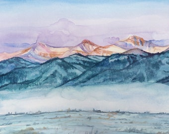 Morning Glow   Original Watercolor   Watercolor Landscape   Painting   Landscape Painting