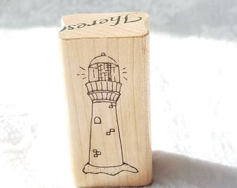 Lighthouse stamp by Jrl designs, Lighthouse rubber stamp, Card Stamp, Sea shore stamp, Light House stamp, beach stamp, Nautical stamp