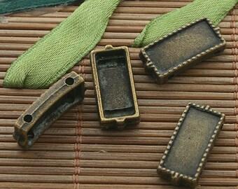 30pcs bronze tone rectangle connectors h3329