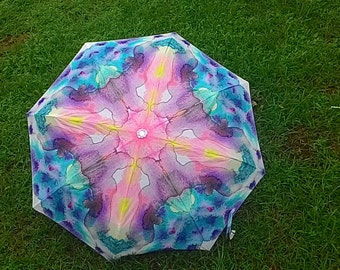 Folding umbrella 'Stain'- Abstract watercolor design