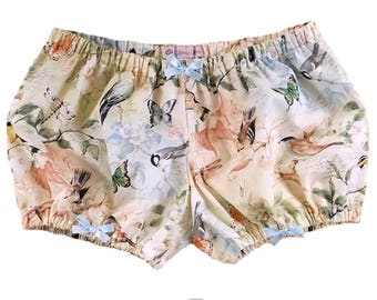 JULY PREORDER Lolita Bloomers watercolor birds and butterflies shorts cotton underwear lingerie drawers pajamas nightwear sleepwear cute