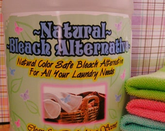 NATURAL NEW Color Safe Bleach Alternative~~Works on ALL Whites and Colored Laundry~~128 oz~~Clean Fresh Linen Scent