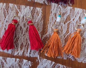 Scarlett and Tangerine | Handmade | Tassel Earrings