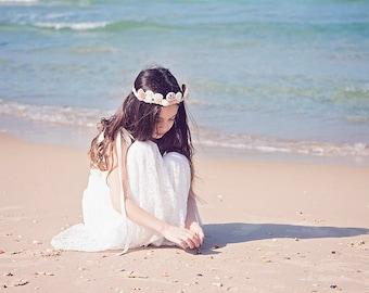 Ivory Lace Boho-chic Flower Girl Dress, Junior Bridesmaid Dress, Boho skirt and top set, boho flower girl dress, Bohemian Wedding, Boho set