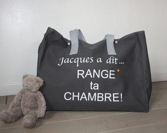 "Bag ""Jacques said tidy your room"""