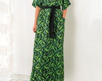 Green Maxi Dress, Floral Maxi Dress, Boho Maxi Dress, Plus size Maxi Dress, Long Maxi Dress, Floral dress, Summer dress, Party dress