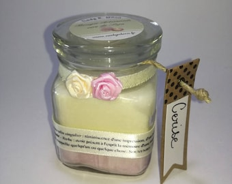 Handcrafted candle wax soy bi - colored cherry scent