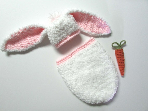 Erste Ostern Outfit Baby Cocoon Hut gehäkelte Baby Bunny