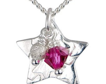 Childrens Little Star Necklace - Pink
