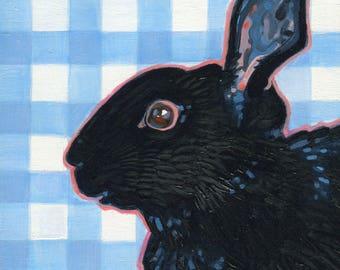 Farmhouse Art Print, Rabbit Art, Nursery Decor, Bunny Wall Art, Original Bunny Art, Rabbit Painting, Bunny Oil Painting, Modern Farmhouse