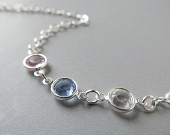 Silver Eyeglass Chain - Blue Purple - Alexandrite - Eyeglass Necklace - Reading Glasses Chain - Glasses Cord - Eye Glasses Chain - Links