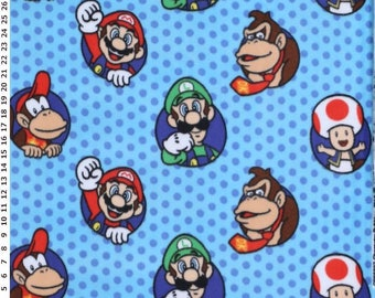 Nintendo Character Bubbles 59-inch Fleece Fabric by the yard