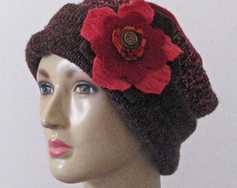 Ladies Upcycled Recycled Felted Wool Hat