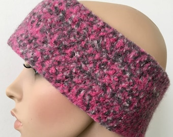 Women's Head Warmer, Gift for Her, Wool Ear Warmer, Pink Ear Warmer, Crochet Ear Warmer, Winter Ear warmer, Warm Ear Warmer FREE SHIPPING