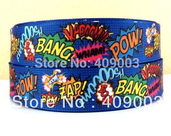 Blue Ribbon grosgrain printed PoP Art