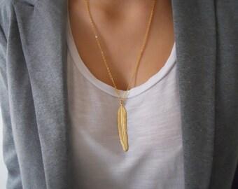 Feder-Halskette