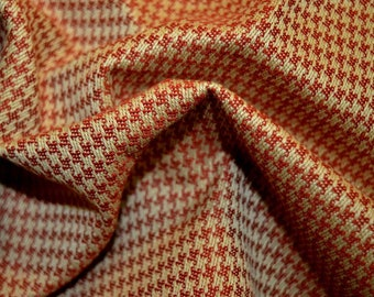 REMNANT Red Houndstooth Fabric 55 inches x 2.625 yards