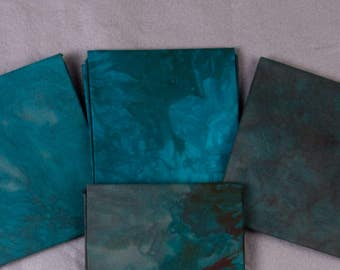 Desert Turquoise, Hand-dyed Quilting Cotton Fat Quarter