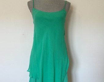 XS 80's Seafoam Green Ethereal Dress by Dorothy Schoelen Extra-Small