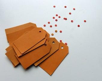 Orange dick Karte Preisschilder hängen Stichwörter 2 x 1 Zoll